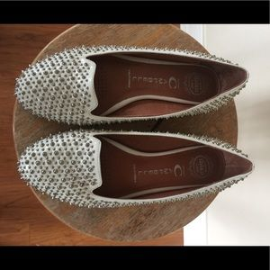 Jeffrey Campbell Martini White Studded Loafer